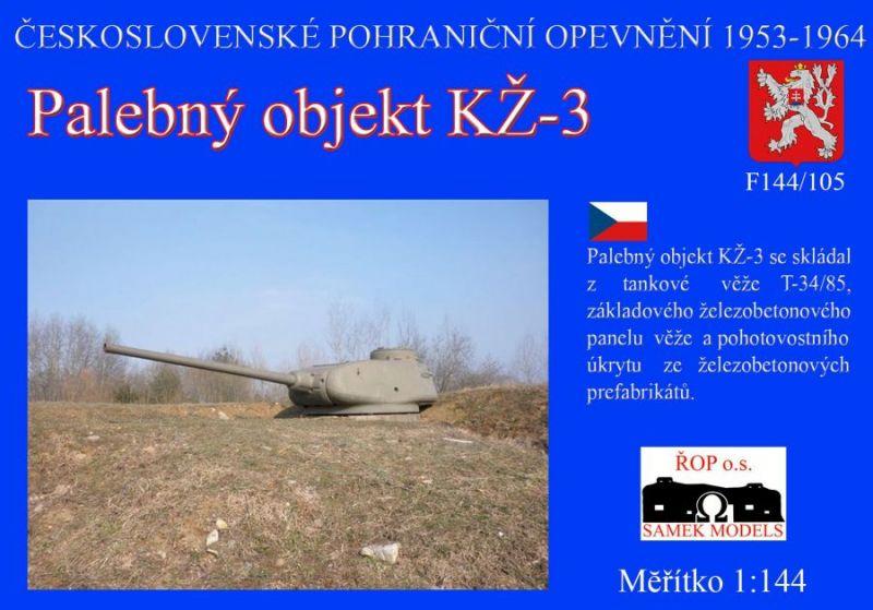 Palebný objekt KŽ-3 s věží z tanku T-34/85