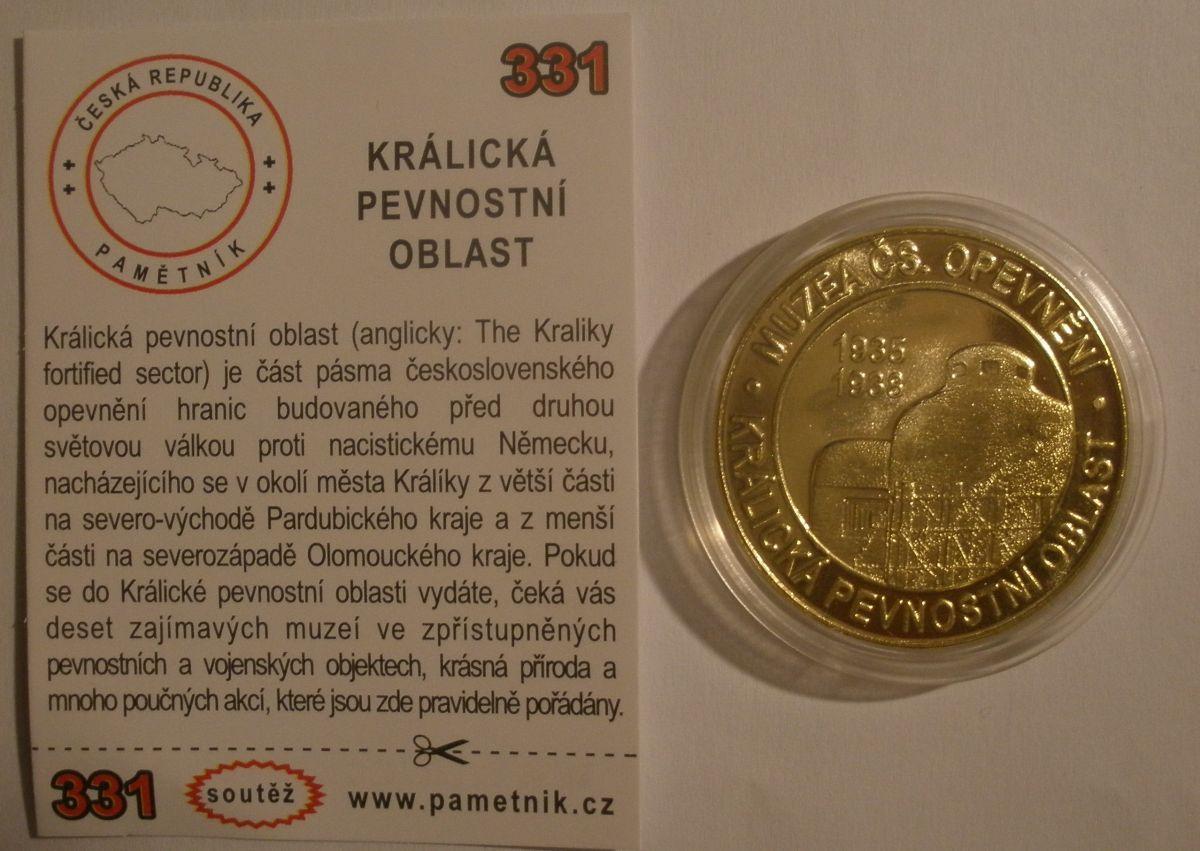 Medaile Pamětník - Králická pevnostní oblast