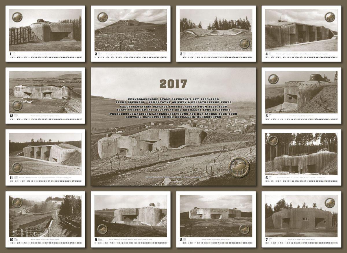 Kalendář čs.opevnění na rok 2017