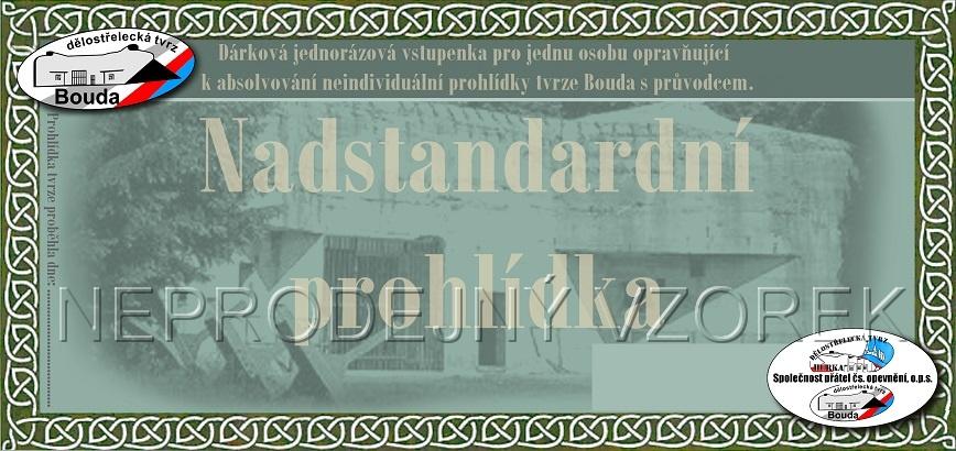 Nadstandardní prohlídka tvrze Bouda - dárková vstupenka