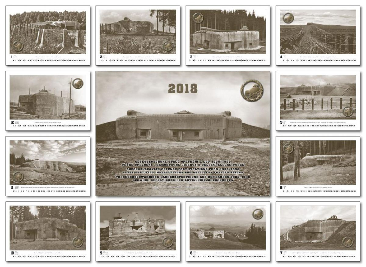 Kalendář čs. opevnění na rok 2018