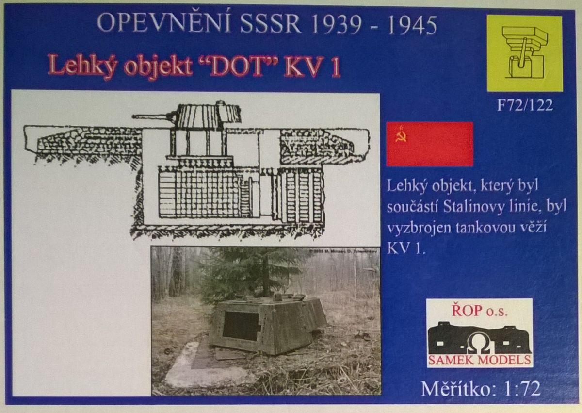 Lehký objekt DOT - s věží KV-1