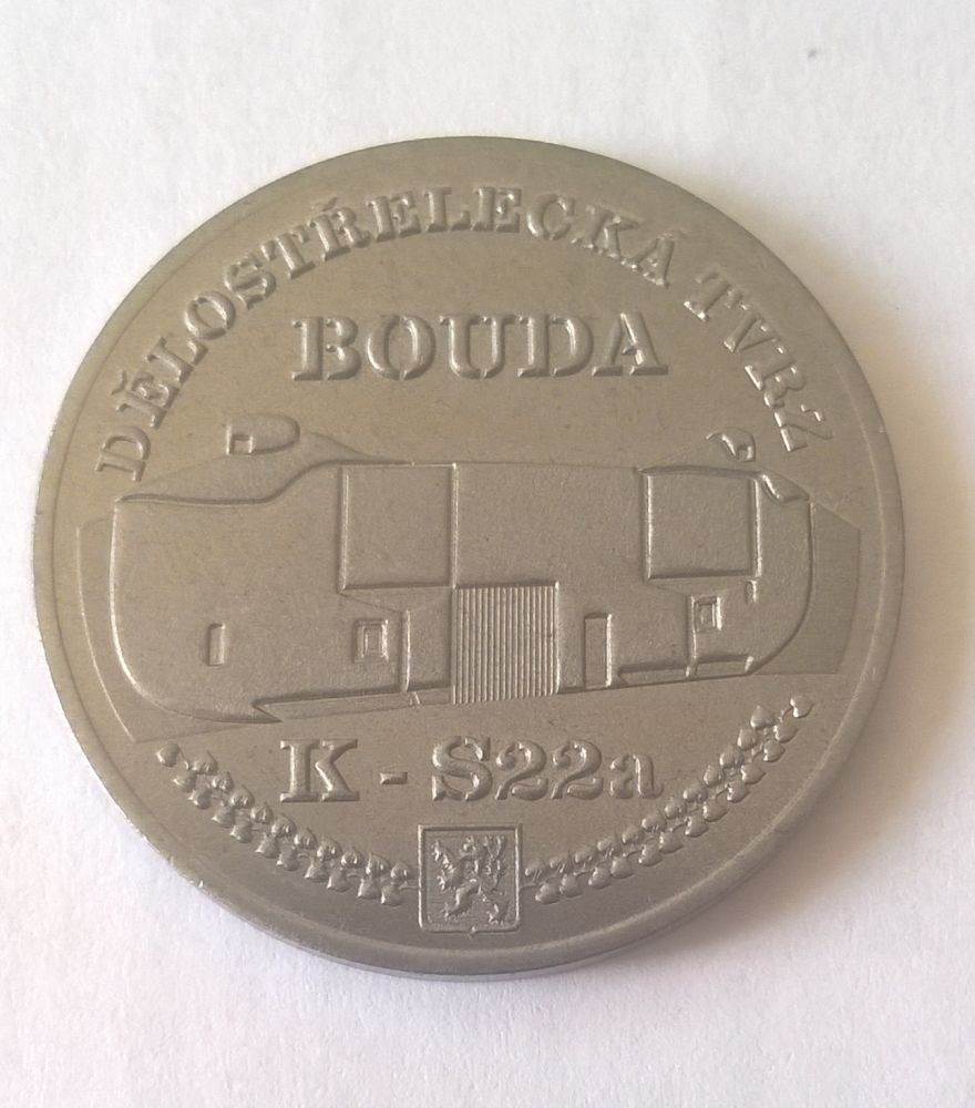 Medaile Bouda - ocel