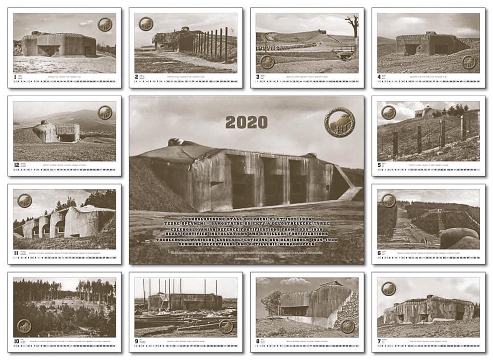 Kalendář čs. opevnění na rok 2020