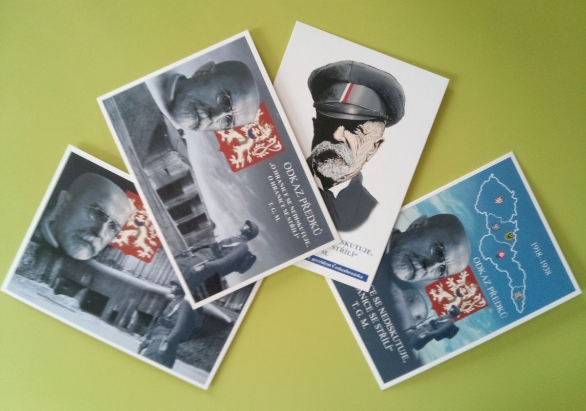 Sada vlasteneckých pohlednic - 4 ks