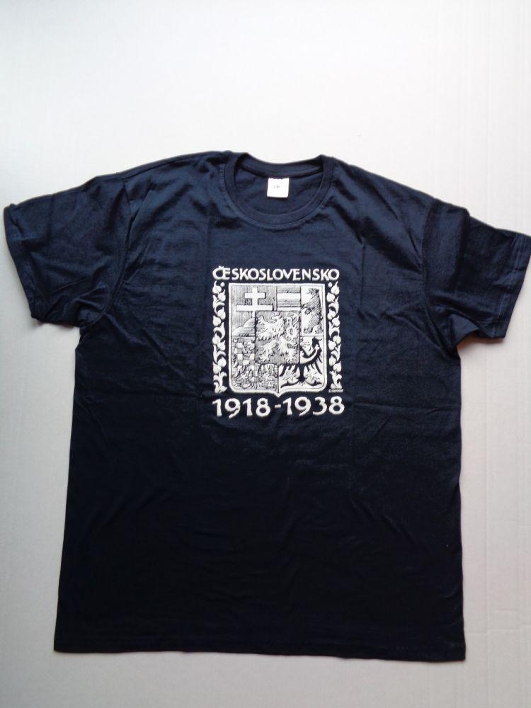 Tričko ČSR tmavě modré - velikost L