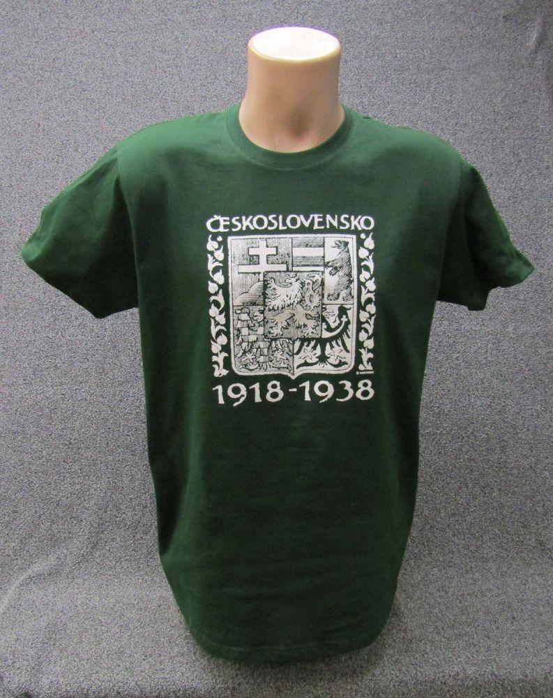 Tričko ČSR zelené - velikost XL