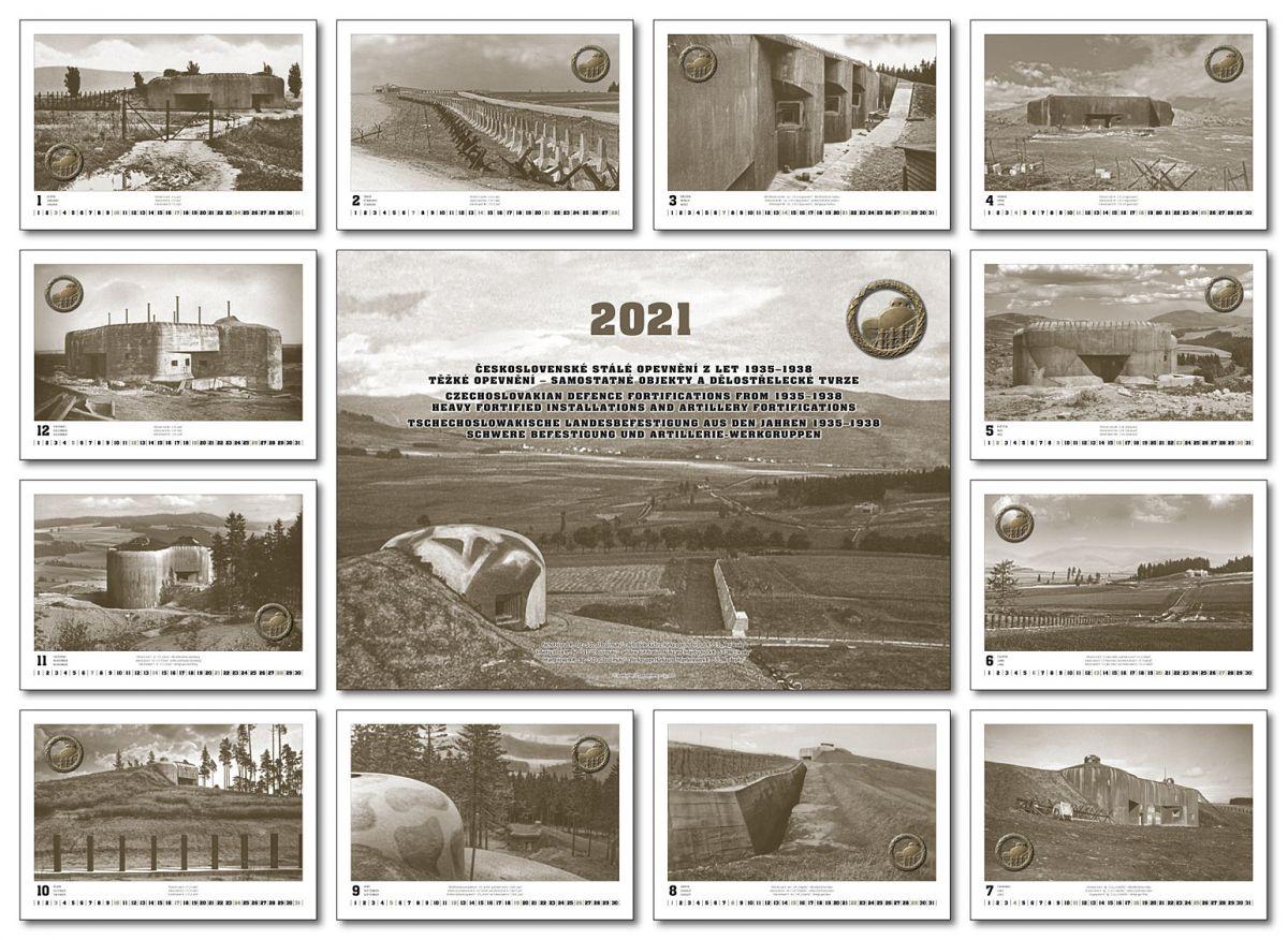 Kalendář čs. opevnění na rok 2021